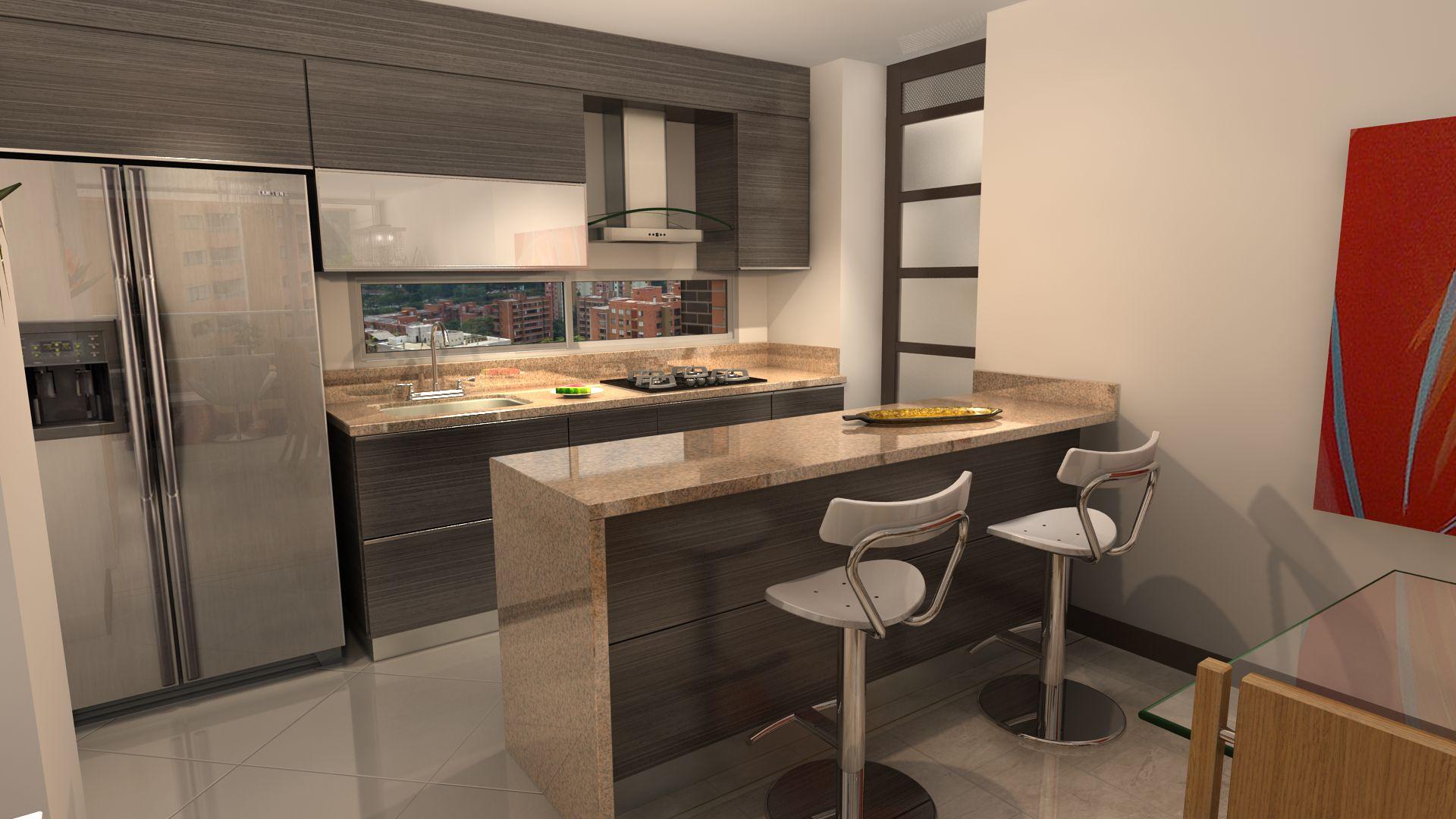Serrat apartamentos en el poblado medell n for Cocinas para apartamentos