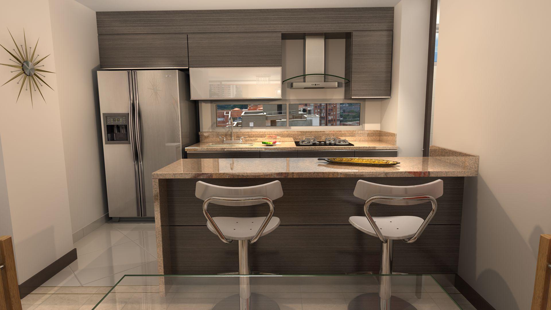 Famoso Muebles De Cocina Apartamento Friso - Ideas para Decorar la ...