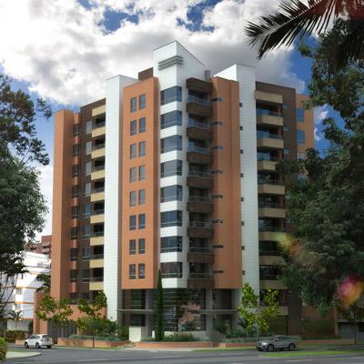Apartamentos de Constructora en Medellín con piso de mármol.